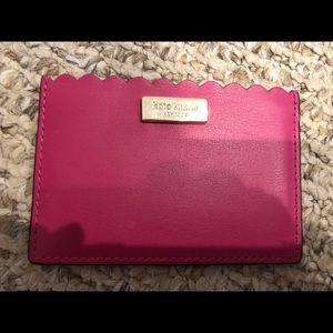 Kate spade card case hot pink